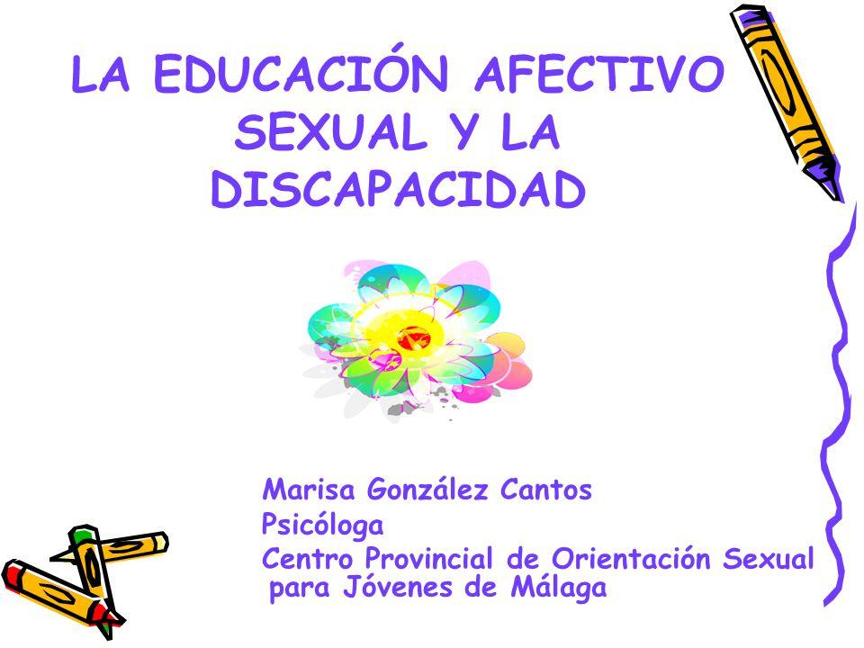 LA EDUCACIÓN AFECTIVO SEXUAL Y LA DISCAPACIDAD