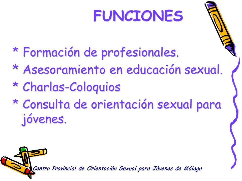 FUNCIONES * Formación de profesionales.
