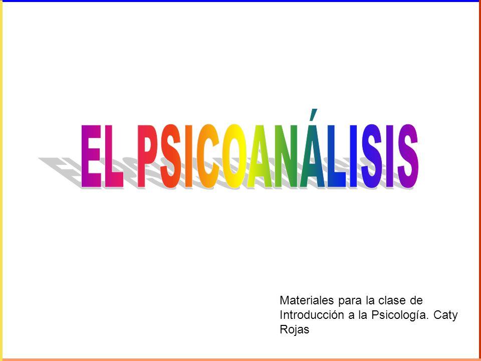 EL PSICOANÁLISIS Materiales para la clase de Introducción a la Psicología. Caty Rojas