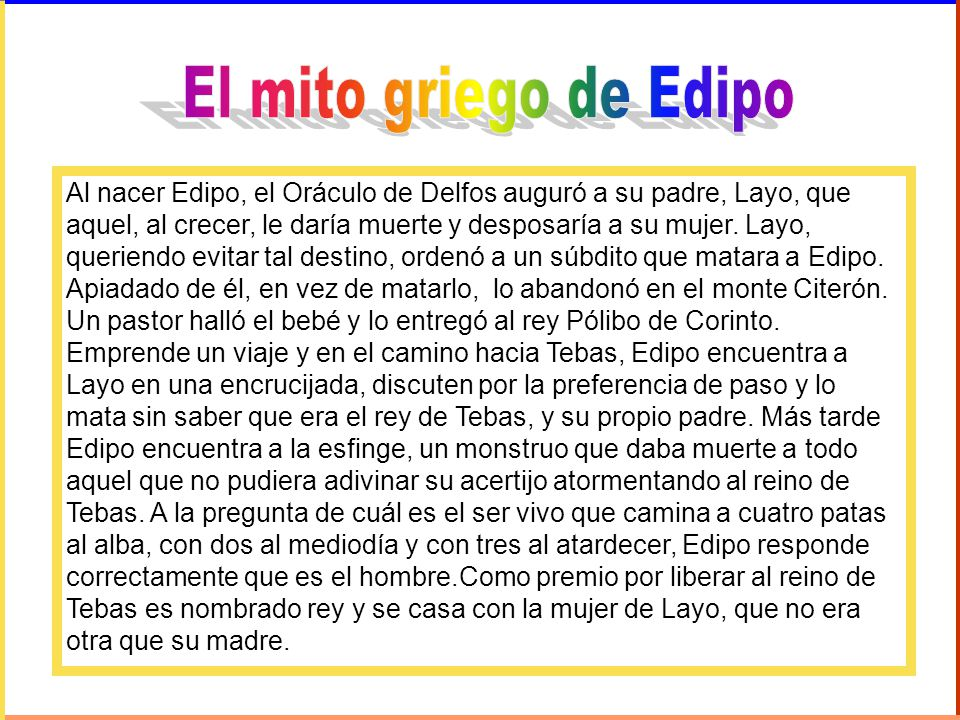 El mito griego de Edipo