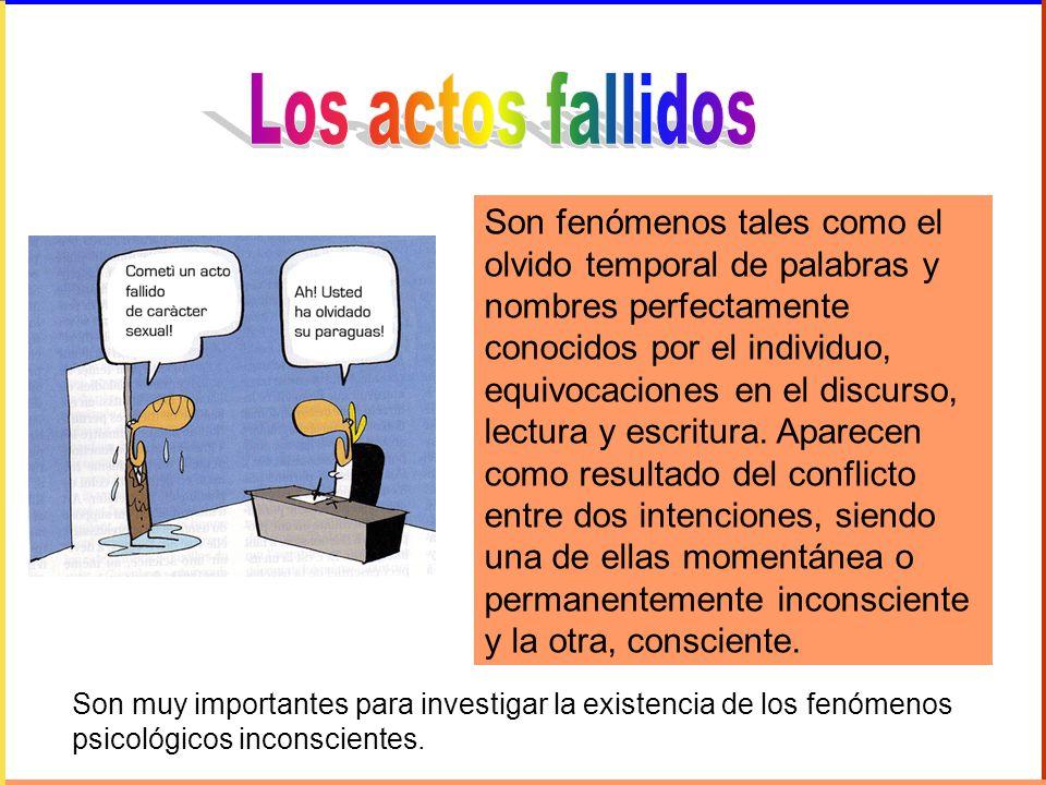 Los actos fallidos