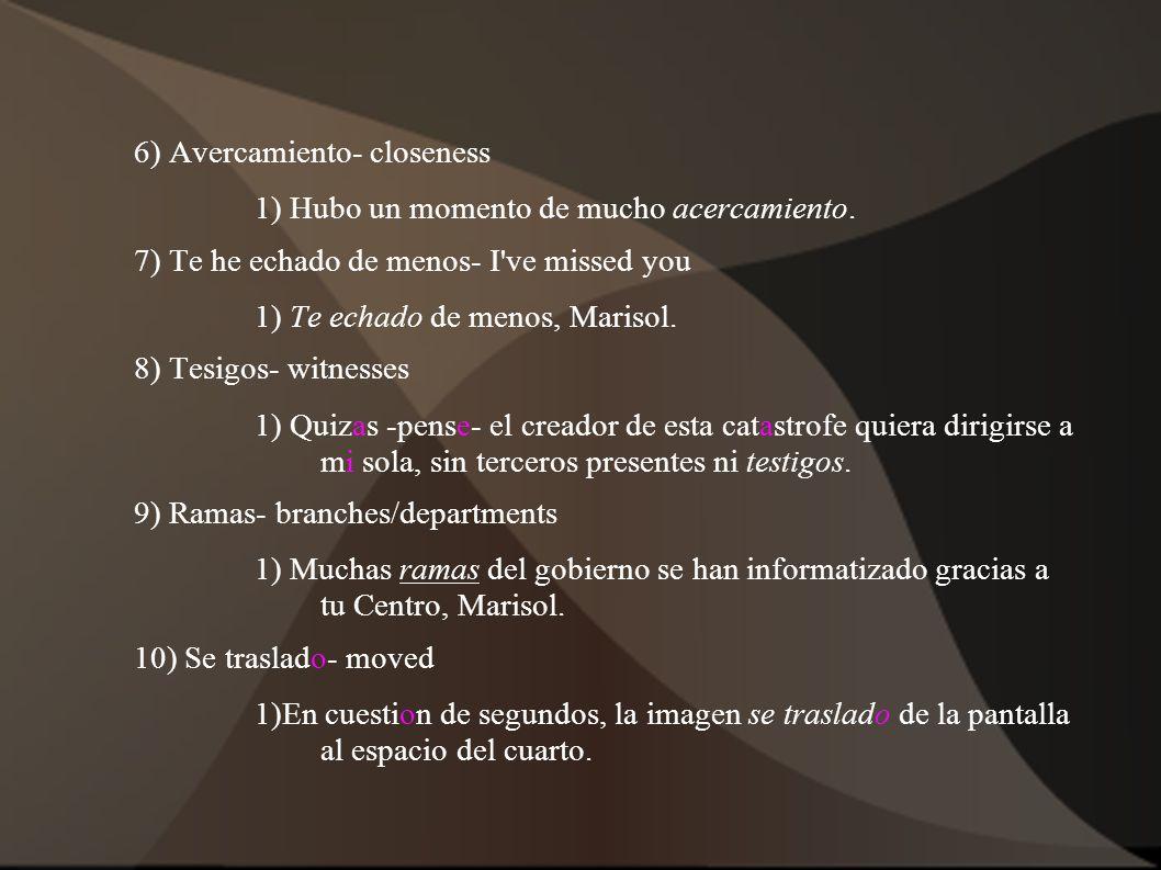 6) Avercamiento- closeness