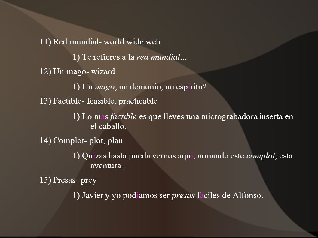 11) Red mundial- world wide web