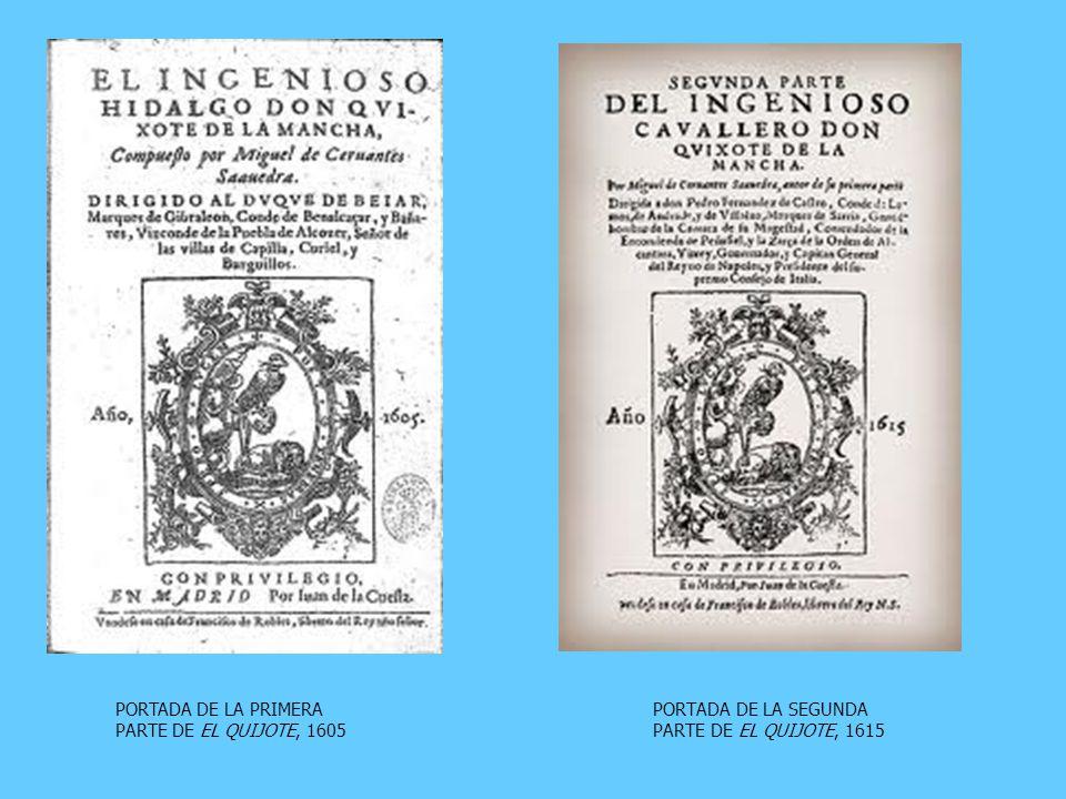 PORTADA DE LA SEGUNDA PARTE DE EL QUIJOTE, 1615