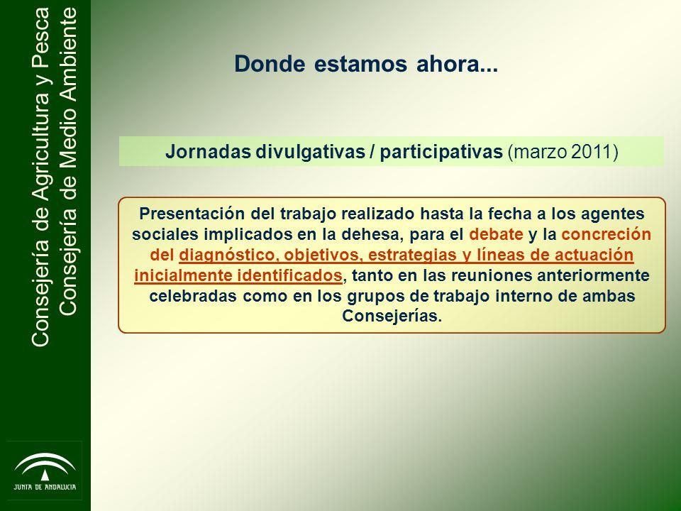 Jornadas divulgativas / participativas (marzo 2011)