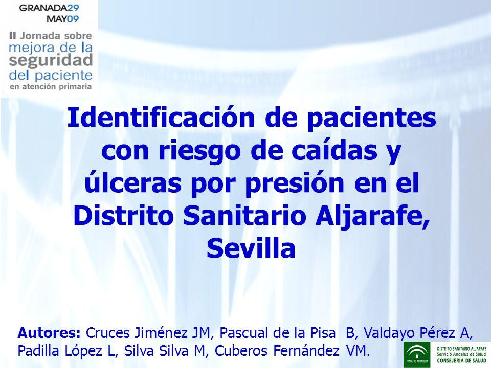 Identificación de pacientes con riesgo de caídas y úlceras por presión en el Distrito Sanitario Aljarafe, Sevilla