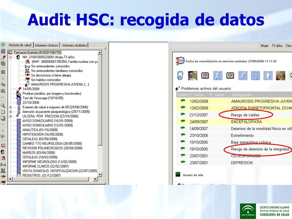 Audit HSC: recogida de datos