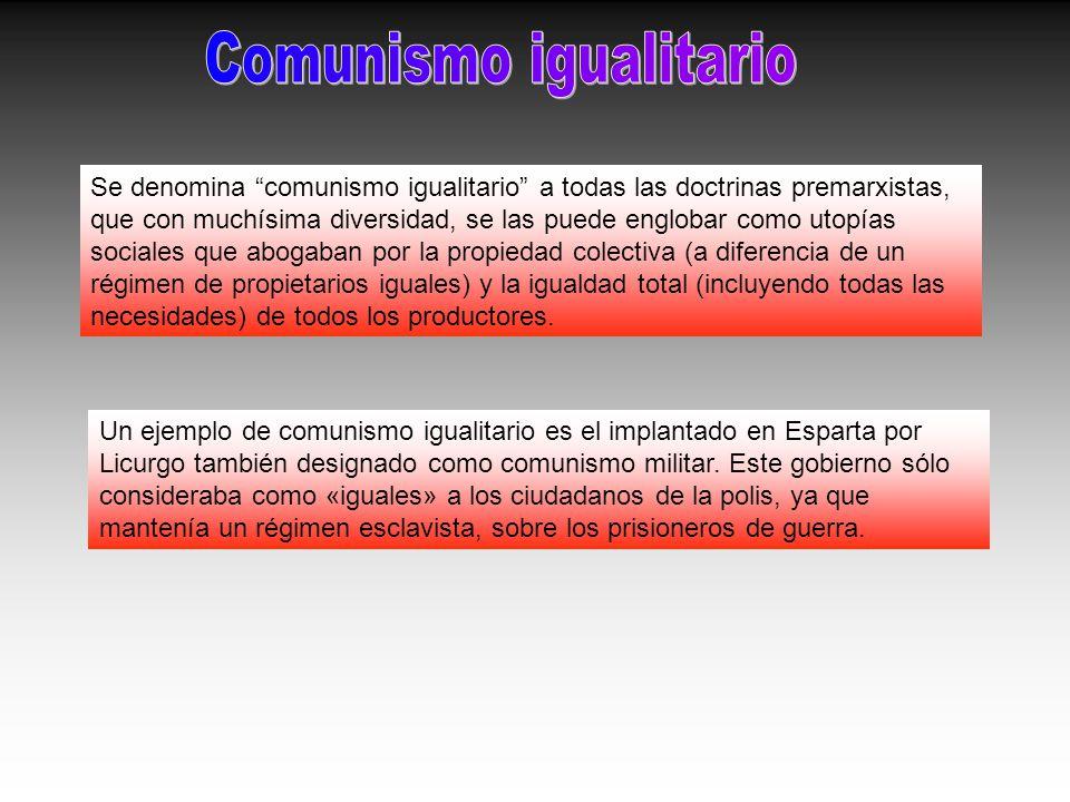 Comunismo igualitario