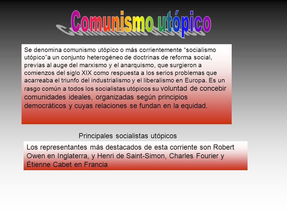 Principales socialistas utópicos