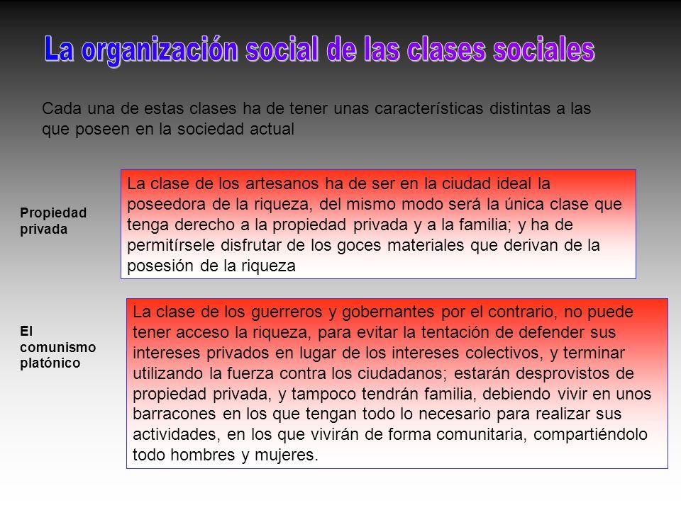 La organización social de las clases sociales