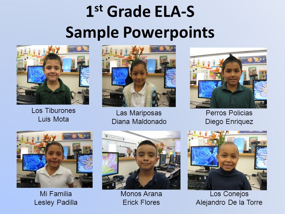 1st Grade ELA-S Sample Powerpoints