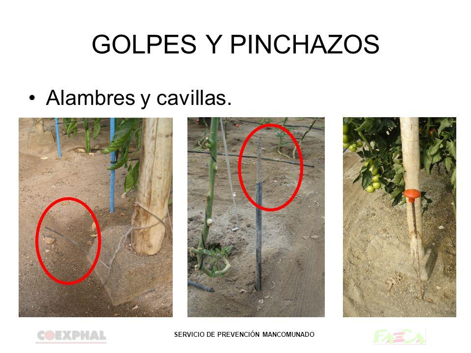 GOLPES Y PINCHAZOS Alambres y cavillas.