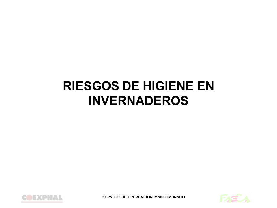 RIESGOS DE HIGIENE EN INVERNADEROS