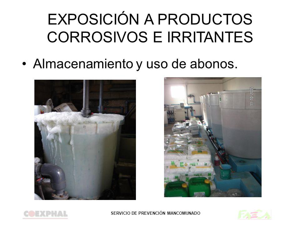 EXPOSICIÓN A PRODUCTOS CORROSIVOS E IRRITANTES