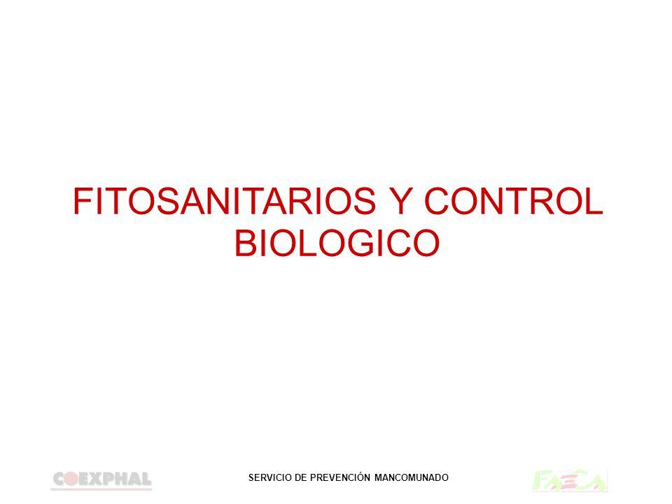 FITOSANITARIOS Y CONTROL BIOLOGICO
