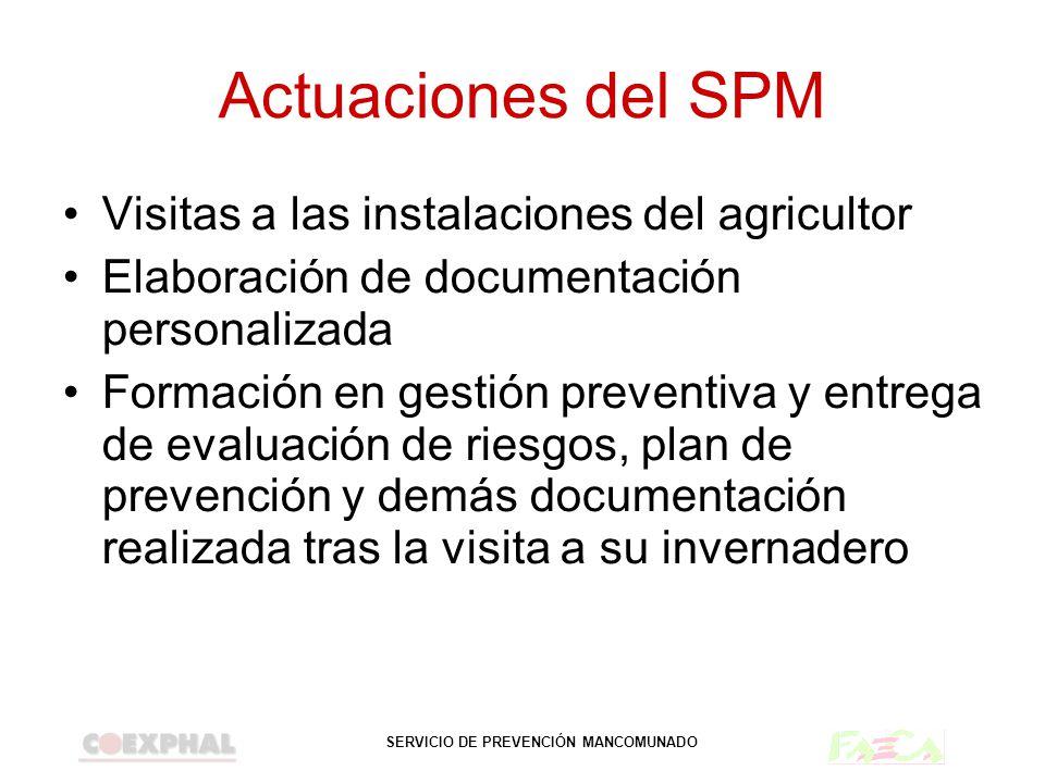 Actuaciones del SPM Visitas a las instalaciones del agricultor