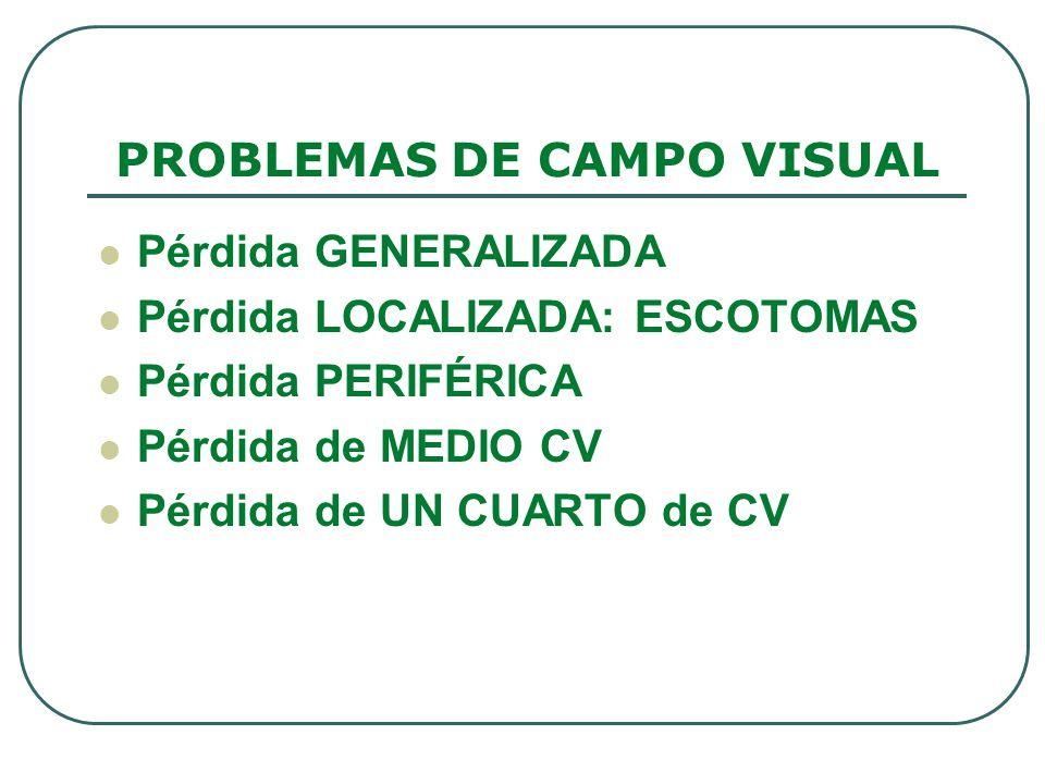 PROBLEMAS DE CAMPO VISUAL