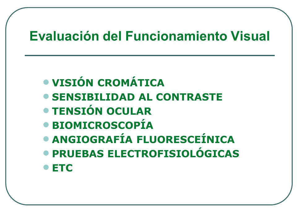 Evaluación del Funcionamiento Visual