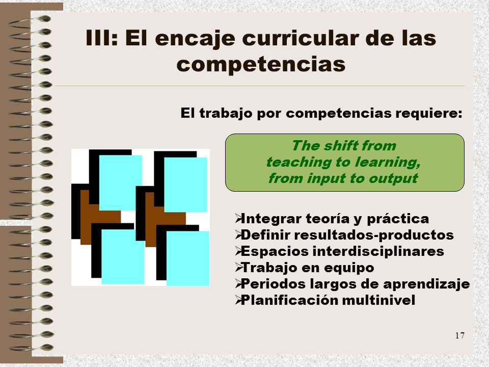 III: El encaje curricular de las competencias