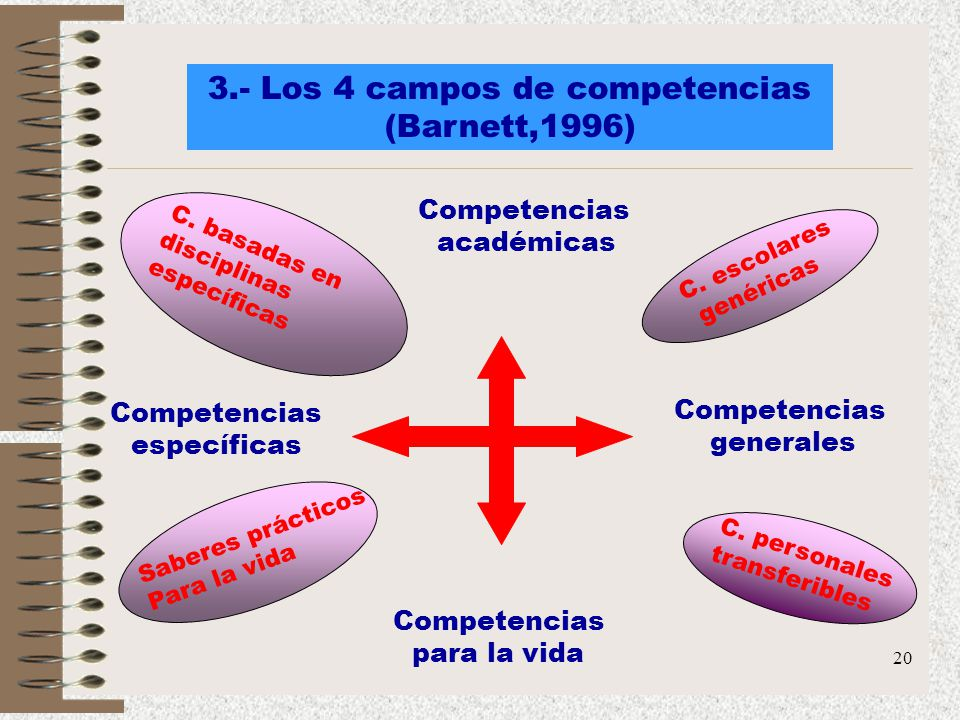 3.- Los 4 campos de competencias