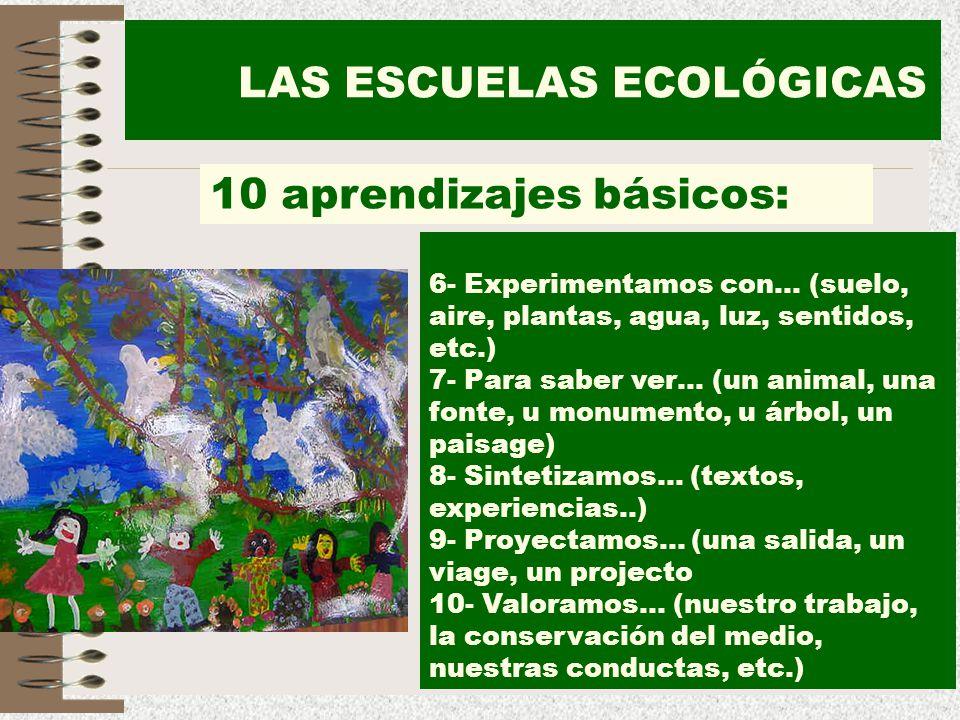 LAS ESCUELAS ECOLÓGICAS