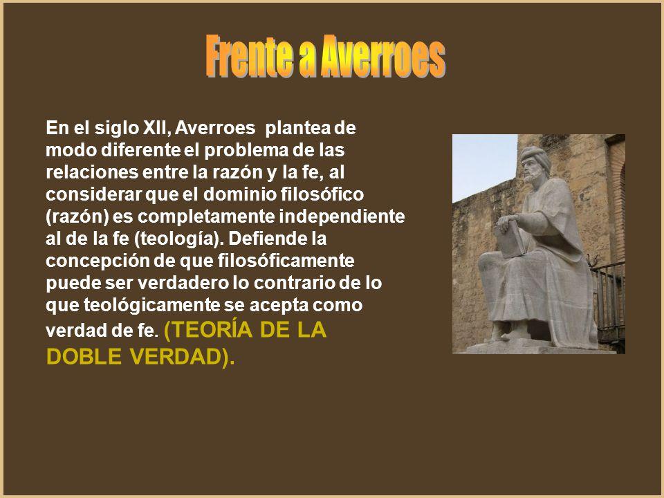 Frente a Averroes