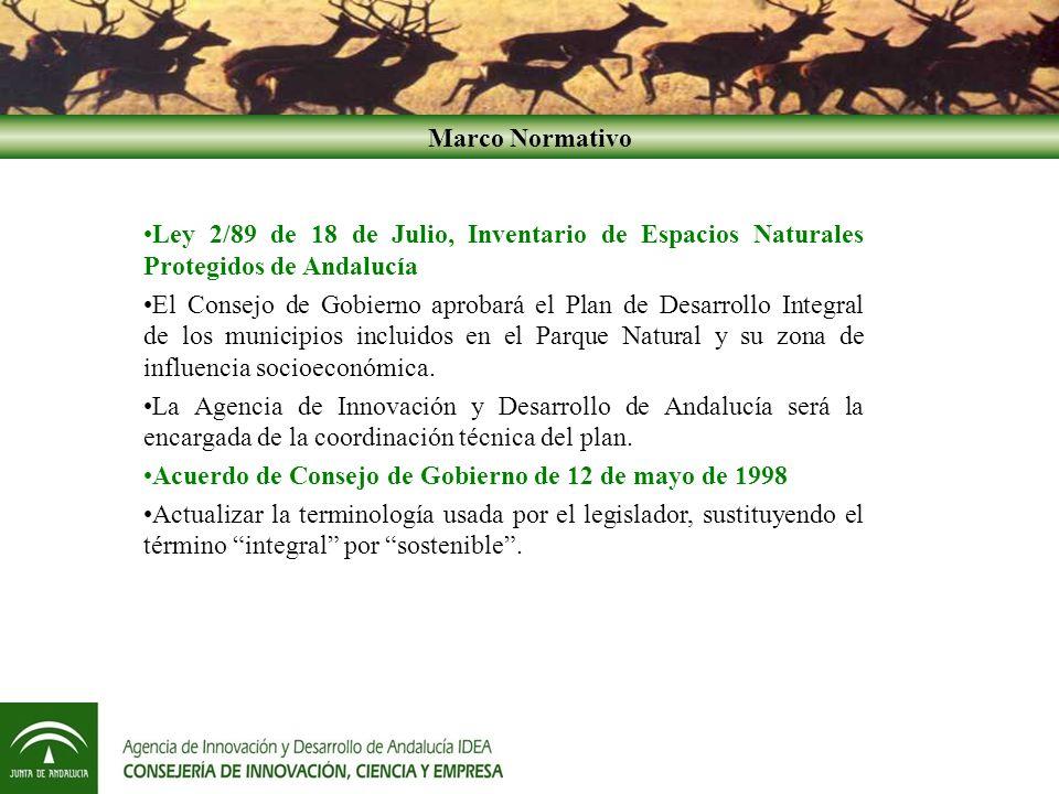 Acuerdo de Consejo de Gobierno de 12 de mayo de 1998