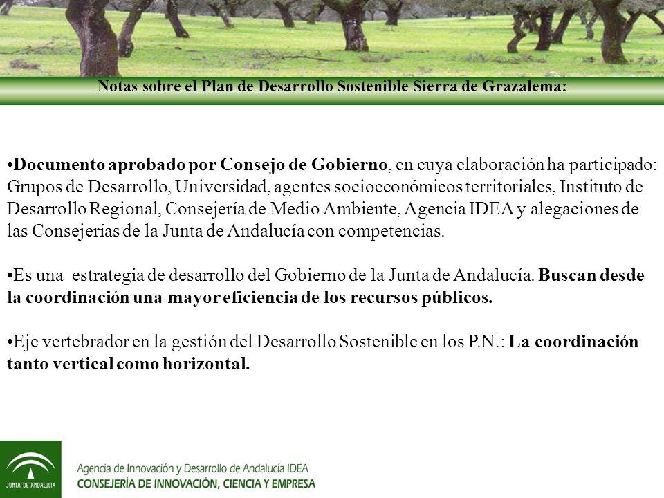 Notas sobre el Plan de Desarrollo Sostenible Sierra de Grazalema: