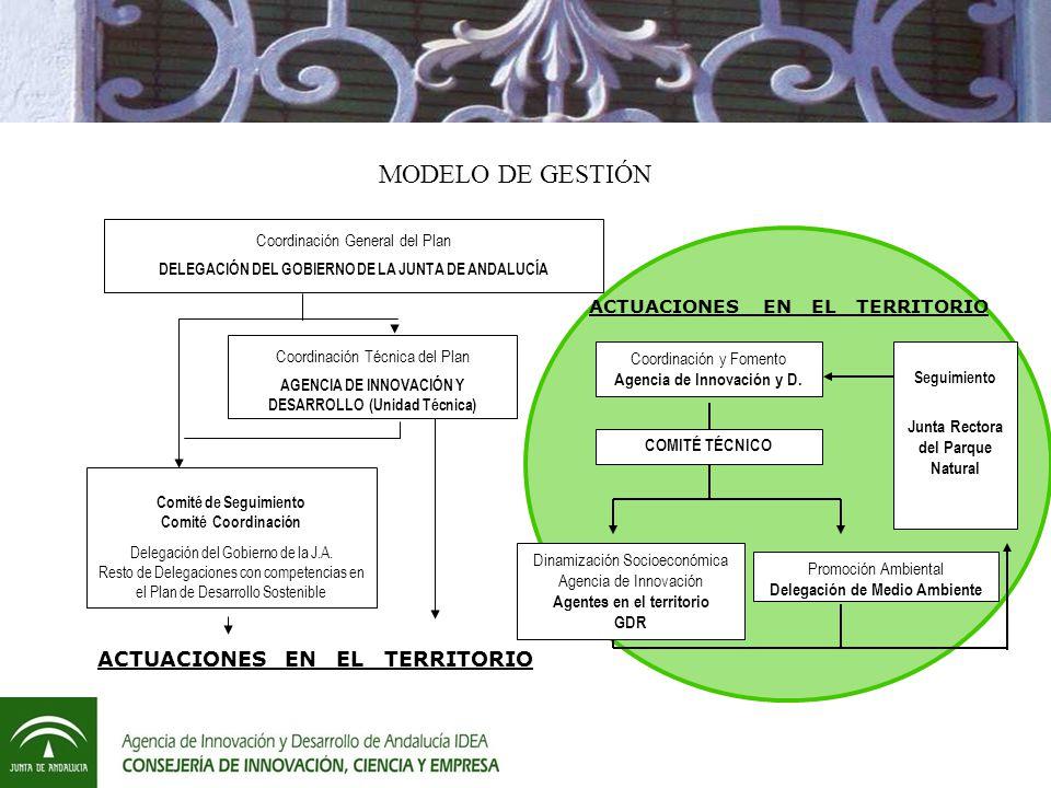 MODELO DE GESTIÓN ACTUACIONES EN EL TERRITORIO