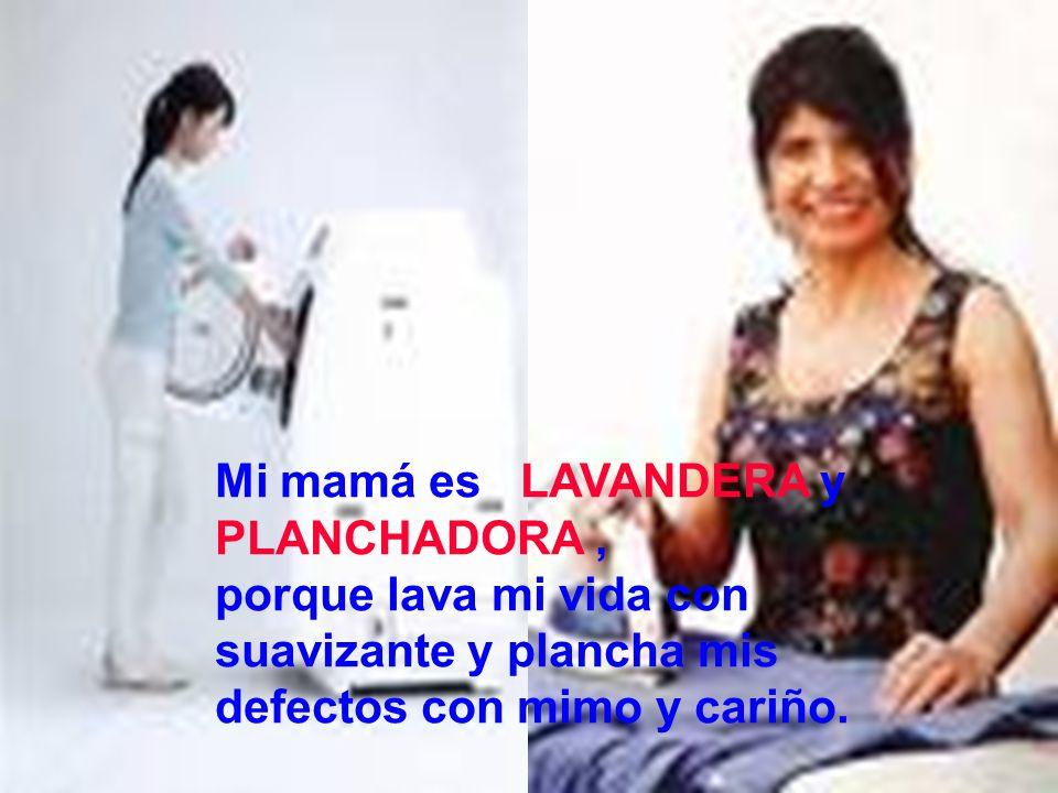 Mi mamá es LAVANDERA y PLANCHADORA ,