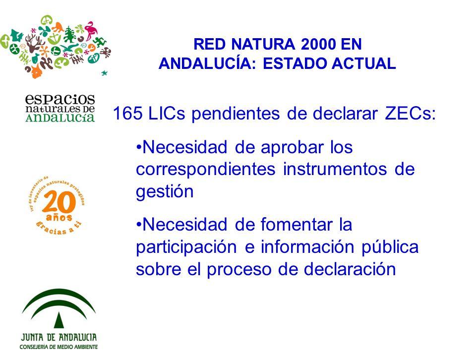 RED NATURA 2000 EN ANDALUCÍA: ESTADO ACTUAL