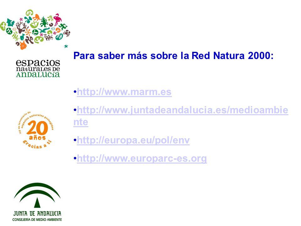 Para saber más sobre la Red Natura 2000: