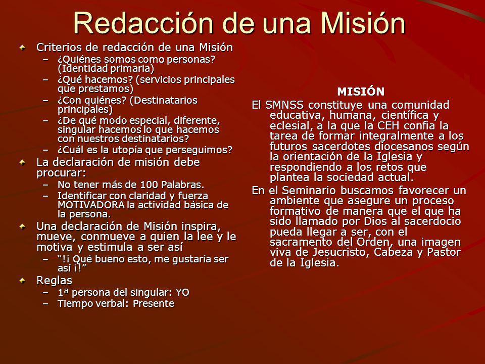 Redacción de una Misión