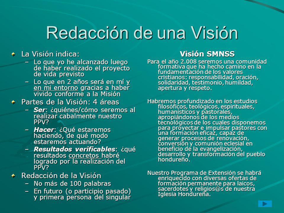 Redacción de una Visión