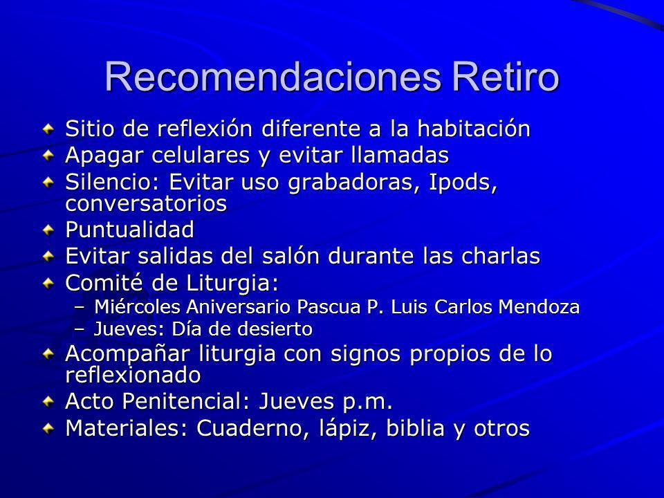 Recomendaciones Retiro