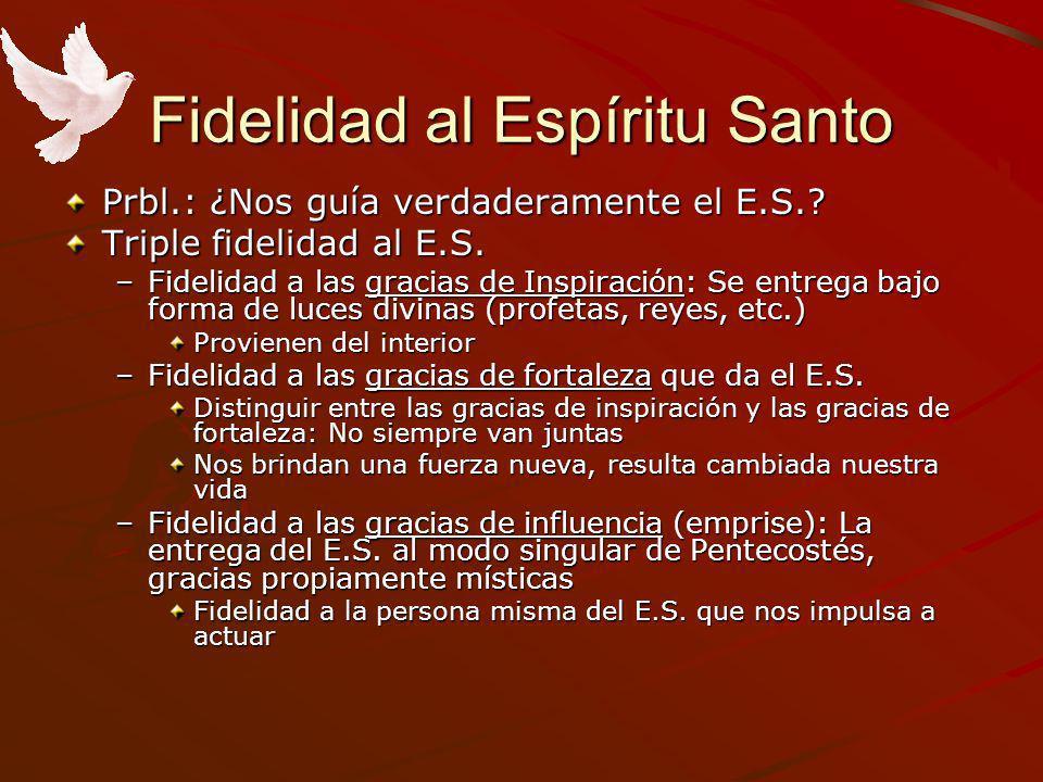 Fidelidad al Espíritu Santo