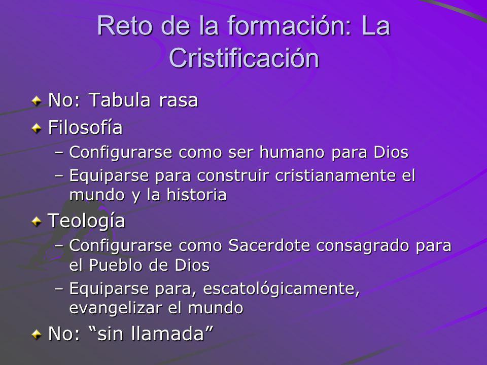 Reto de la formación: La Cristificación