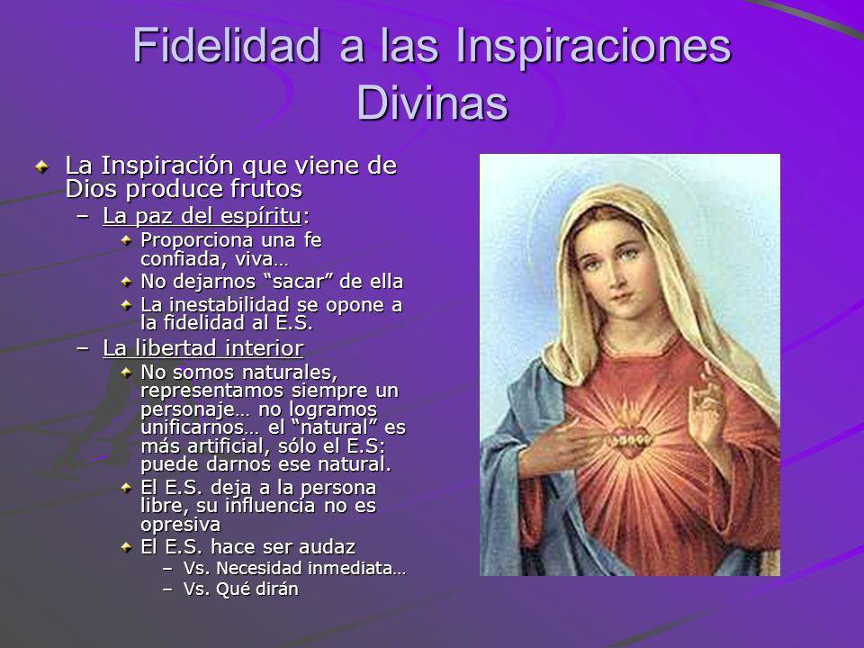 Fidelidad a las Inspiraciones Divinas