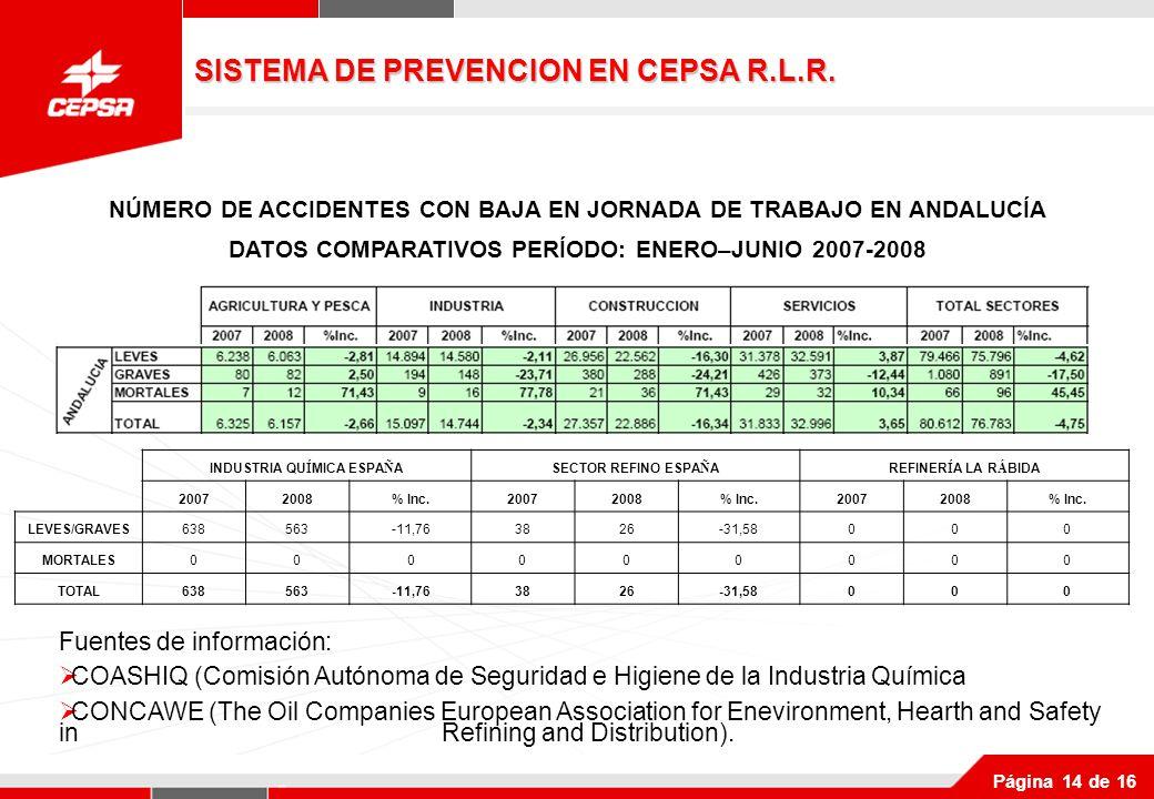 SISTEMA DE PREVENCION EN CEPSA R.L.R.