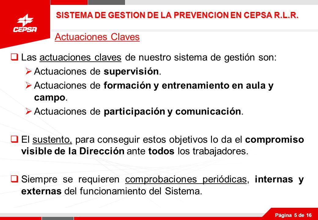 SISTEMA DE GESTION DE LA PREVENCION EN CEPSA R.L.R.