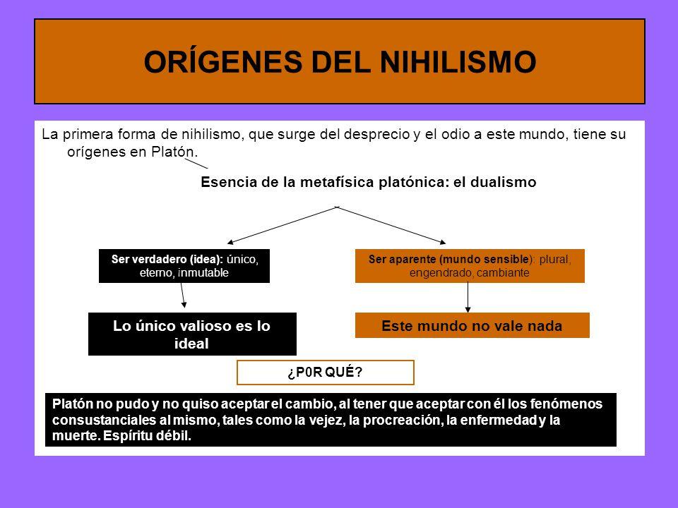 ORÍGENES DEL NIHILISMO