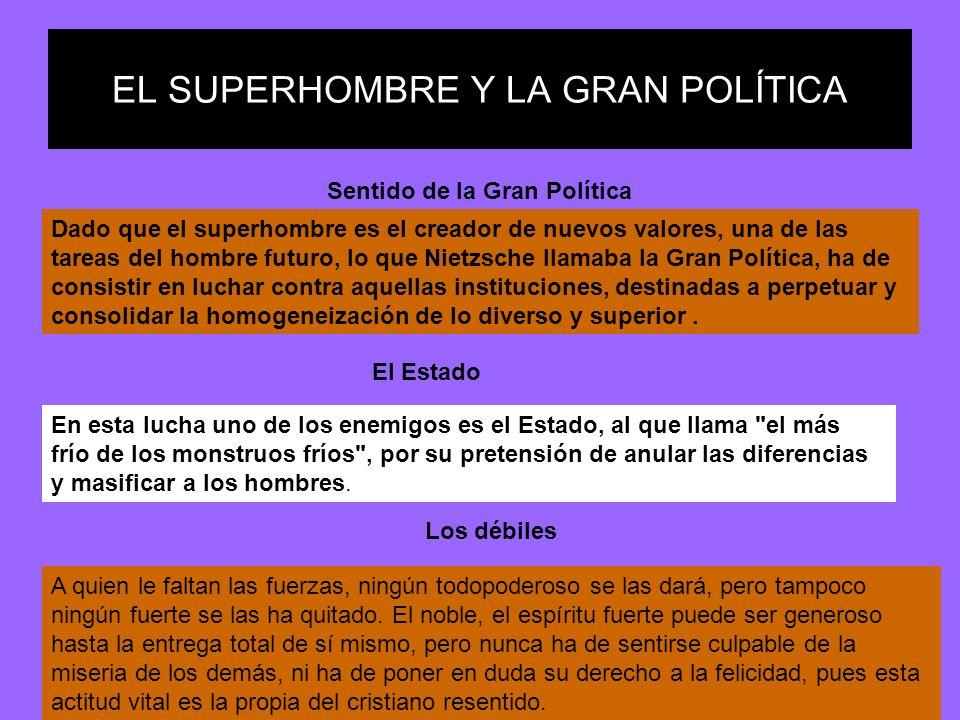EL SUPERHOMBRE Y LA GRAN POLÍTICA