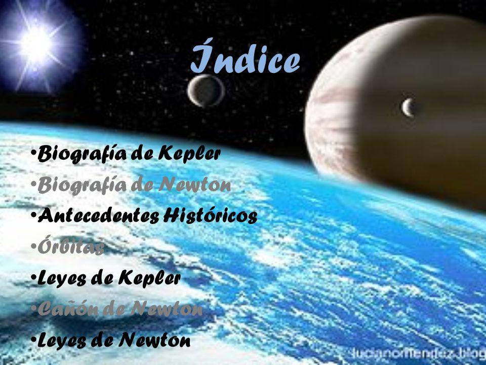 Índice Biografía de Kepler Biografía de Newton Antecedentes Históricos