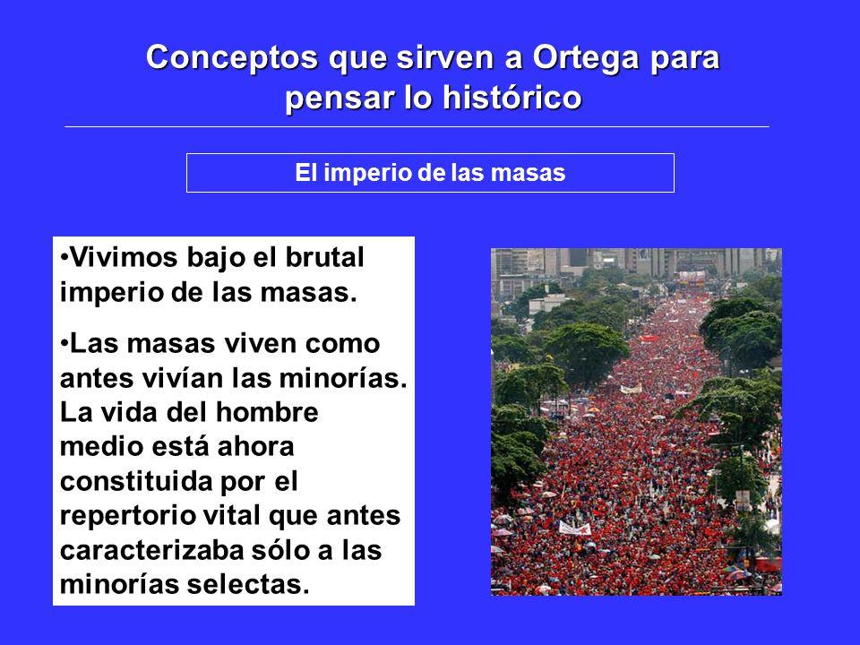 Conceptos que sirven a Ortega para pensar lo histórico