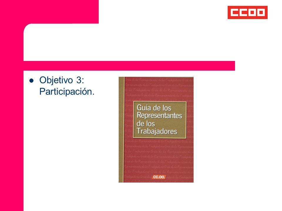 Objetivo 3: Participación.