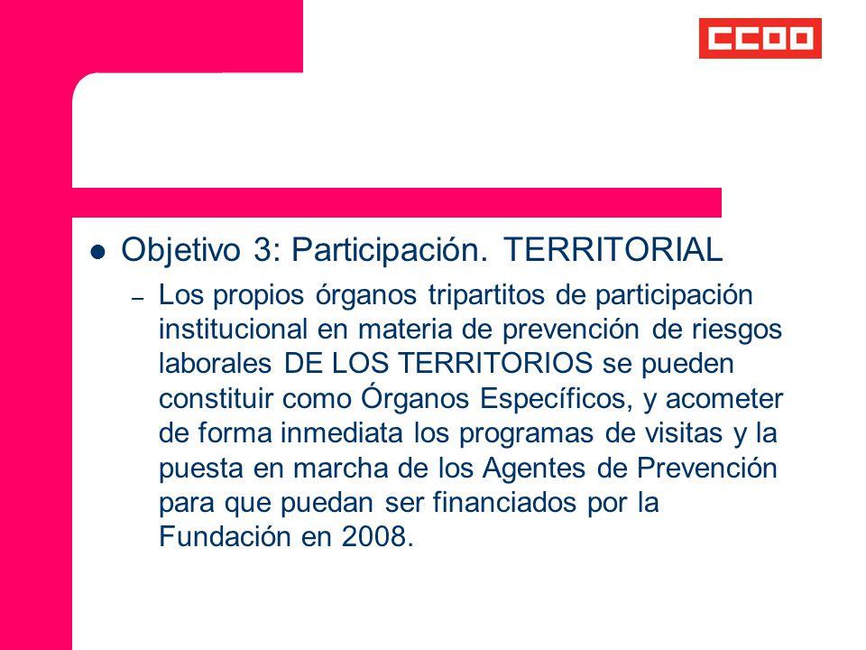 Objetivo 3: Participación. TERRITORIAL