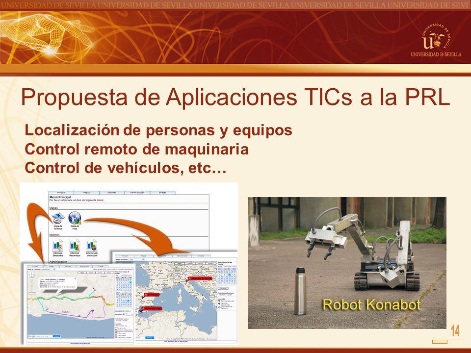 Propuesta de Aplicaciones TICs a la PRL