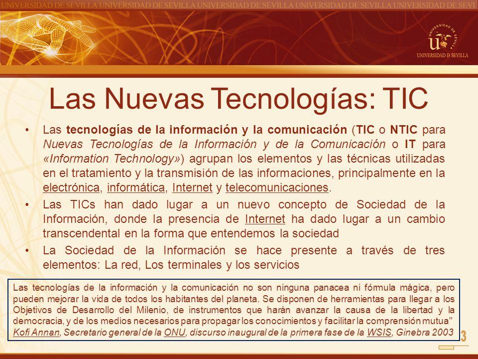Las Nuevas Tecnologías: TIC
