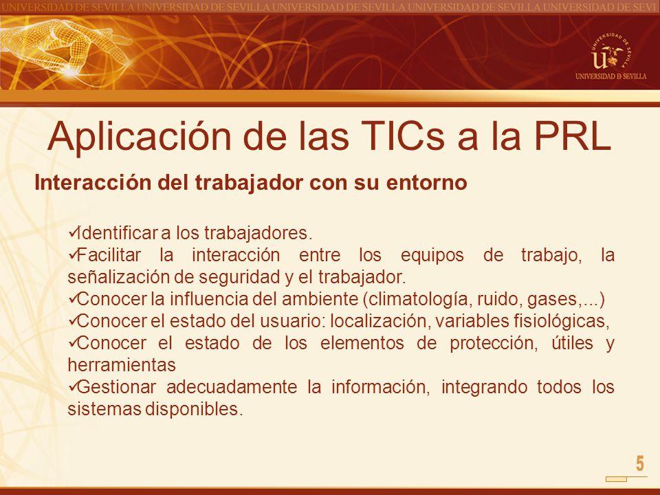 Aplicación de las TICs a la PRL