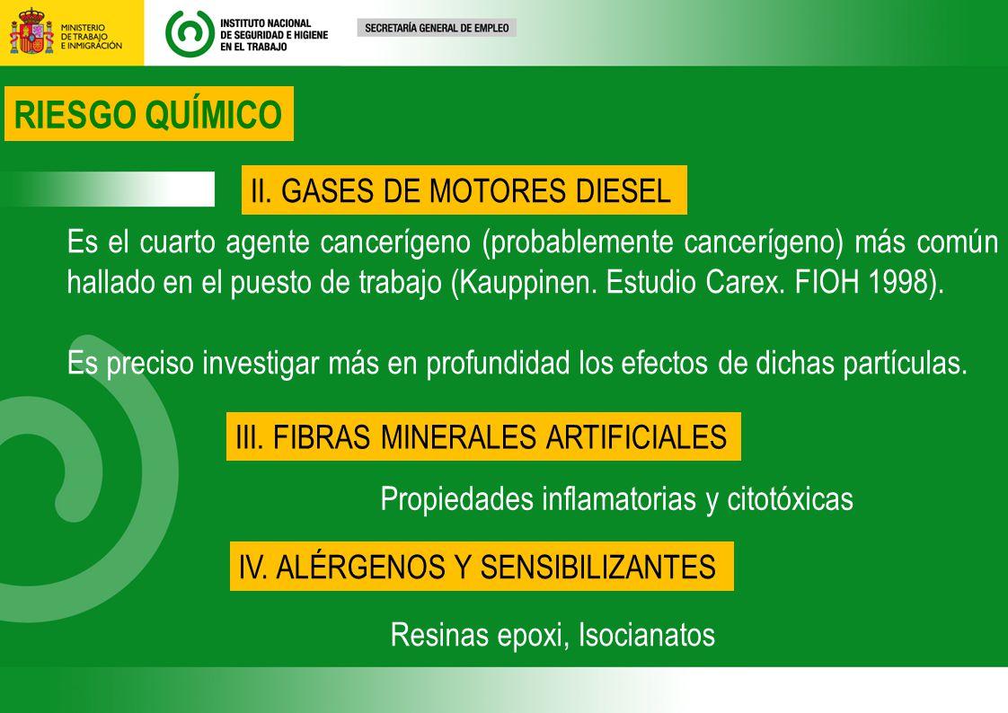 RIESGO QUÍMICO II. GASES DE MOTORES DIESEL